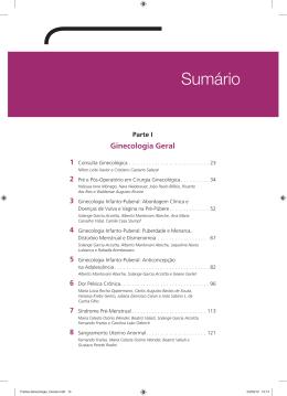 Sumário - Rotinas em Ginecologia e Obstetrícia