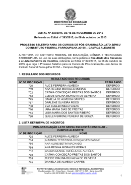 1 EDITAL Nº 493/2015, DE 16 DE NOVEMBRO DE 2015 Referente