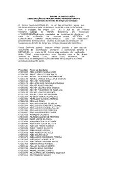 EDITAL DE NOTIFICAÇÃO INSTAURAÇÃO DE - Detran-ES