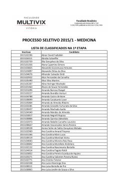 PROCESSO SELETIVO 2015/1