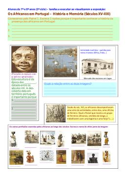 Os Africanos em Portugal – História e Memória (Séculos XV-XXI)