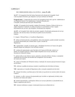 CAPÍTULO V DO CORREGEDOR GERAL DA JUSTIÇA (Arts. 87 a 89)