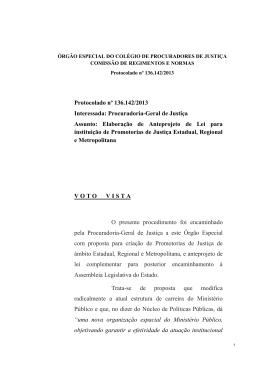 Protocolado nº 136.142/2013 Interessada: Procuradoria