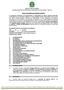 PREGAO ELETRONICO-005-2015 - Material Elétrico - Crea