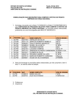 1. Sd PM 924778-5 GERALDO DA SILVA 10bpm 2. Cb PM 923711