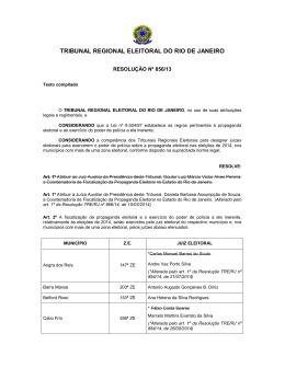 Resolução nº 856/13 - TRE-RJ