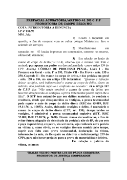 PREFACIAL ACUSATÓRIA/ARTIGO 41 DO CPP PROMOTORIA DE
