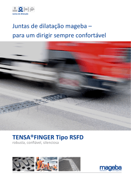 Product brochure TENSA®FINGER RSFD