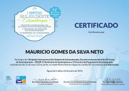 MAURICIO GOMES DA SILVA NETO