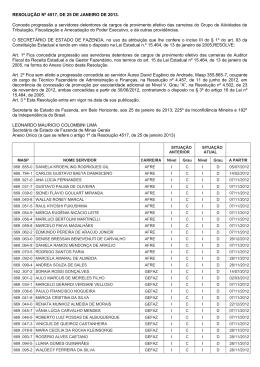 RESOLUÇÃO Nº 4517, DE 25 DE JANEIRO DE - Sindifisco-MG