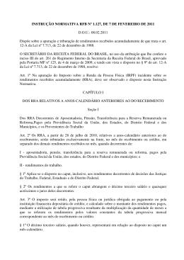 Confira a Instrução Normativa RFB nº 1.127, de fevereiro de 2011