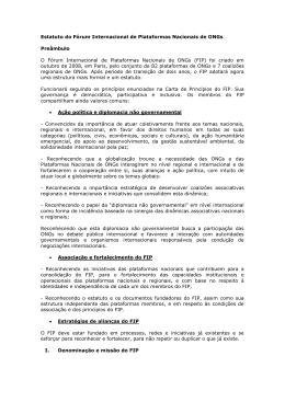 Estatuto do Fórum Internacional de Plataformas Nacionais