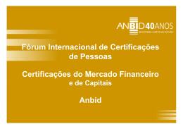 Fórum Internacional de Certificações de Pessoas