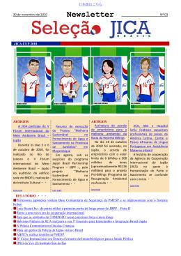JICA Brazil Newsletter nº 03 (PDF/455KB)