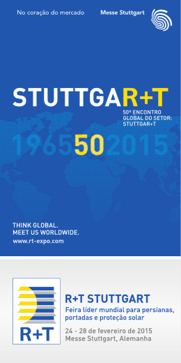 50º encontro global do setor: stuttgar+t