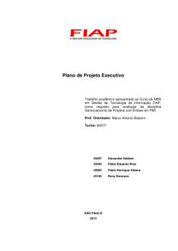 Plano de Projeto Executivo