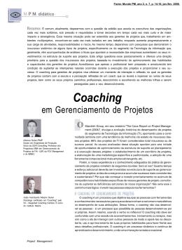 Coaching em gerenciamento de projetos