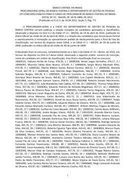 Edital nº 19 - Divulgação de Classificação Final (PDF