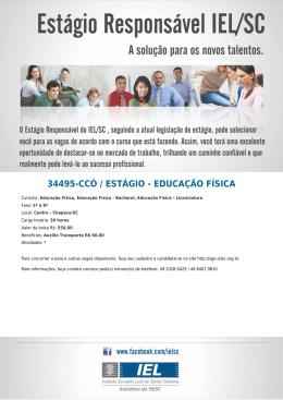 34495-CCÓ / ESTÁGIO