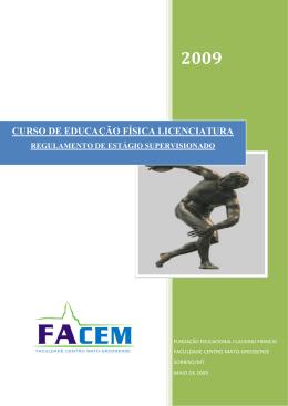 CURSO DE EDUCAÇÃO FÍSICA LICENCIATURA