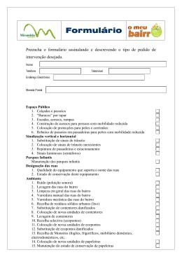 Formulário pedido