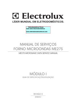 módulo i manual de serviços forno microondas me27s