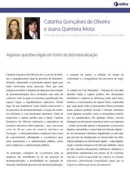 Catarina Gonçalves de Oliveira e Joana Quinteira Mota