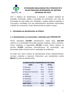 Dados de Atendimento 2012