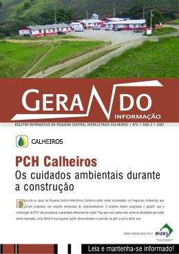 Clique aqui para visualizar o Boletim Informativo das PCH Calheiros