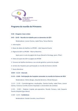 Programa da reunião da Primavera