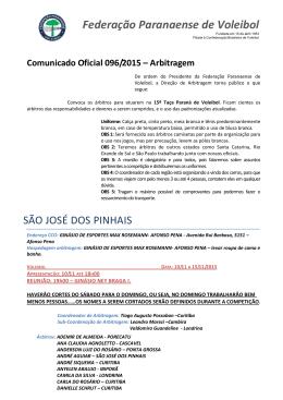 comunicado 096 - taã‡a parana de voleibol 2015