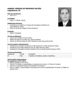 GABRIEL PEREIRA DE MEDEIROS GALVÃO Legislaturas: XI.