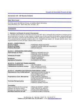 Conselho de Autoridade Portuária do Itajaí Ata