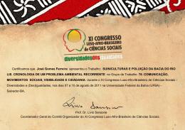 Certificamos que José Gomes Ferreira apresentou o Trabalho