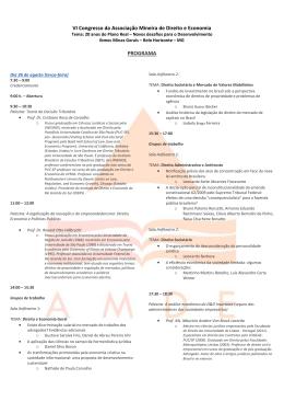 VI Congresso da Associação Mineira de Direito e Economia