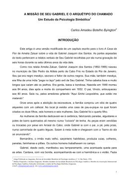 A MISSÃO DE SEU GABRIEL E O ARQUÉTIPO