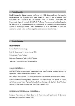 Consultar CV detalhado - Instituto Superior de Agronomia