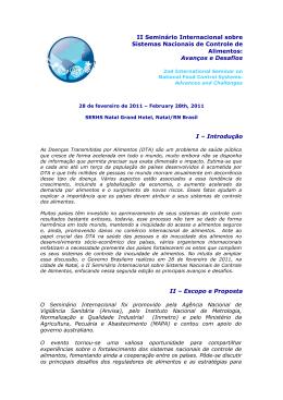 Relatório Pós Seminário Internacional