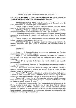 Decreto 0084 - Grande Oriente do Brasil