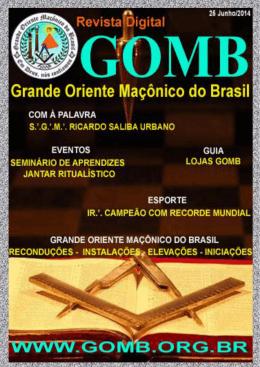 iniciação - `. GOMB - Grande Oriente Maçônico do Brasil .`.
