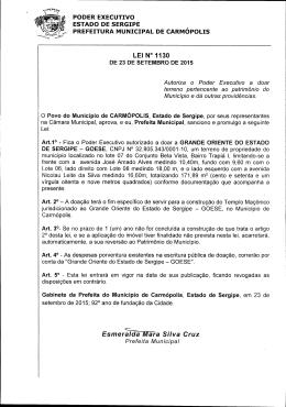 ÿþL E I   1 1 3 0 - Portal da Prefeitura Municipal de Carmópolis