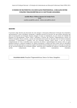 o ensino de matemática na educação profissional: a - IFRN