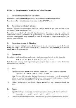 Ficha 2 – Funções com Condições e Ciclos Simples