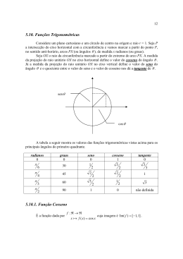 5.10. Funções Trigonométricas 5.10.1. Função Cosseno