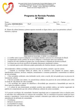 Programa de Revisão Paralela Nº 03/08