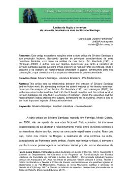 A obra crítica de Silviano Santiago, nascido em Formiga, Minas