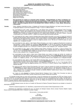 Processo Sancionador RJ2001/7749