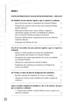 ETAPAS DO PROCESSO DE AVALIAÇÃO DO DESEMPENHO