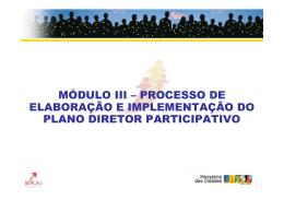 módulo iii – processo de elaboração e implementação do