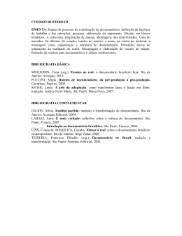 COS10622 ROTEIRO III EMENTA: Etapas do processo de